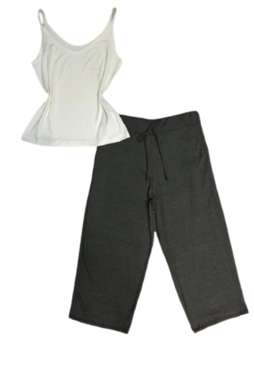 Kit Com 05 Calças Pantacourt Básica Lisa Em Malha Feminina  - ModaStore | Moda Feminina
