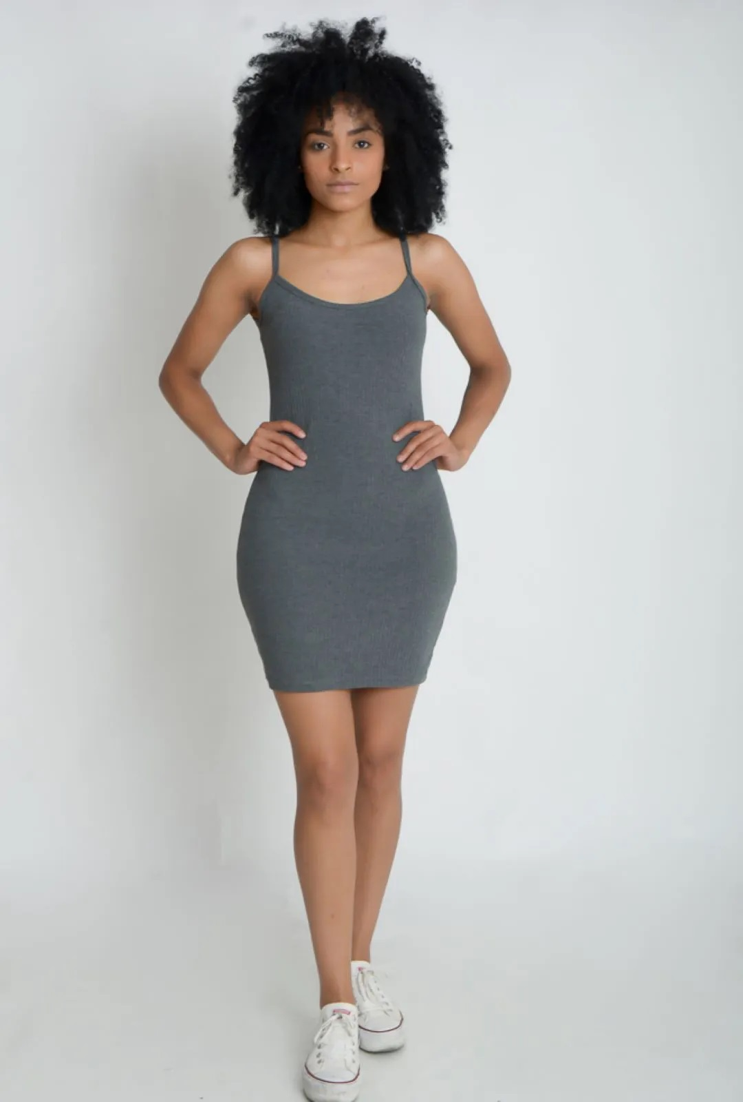 Kit Vestido Curto Canelado Alcinha + Vestido Curto Canelado Decote Ombro a Ombro  - ModaStore
