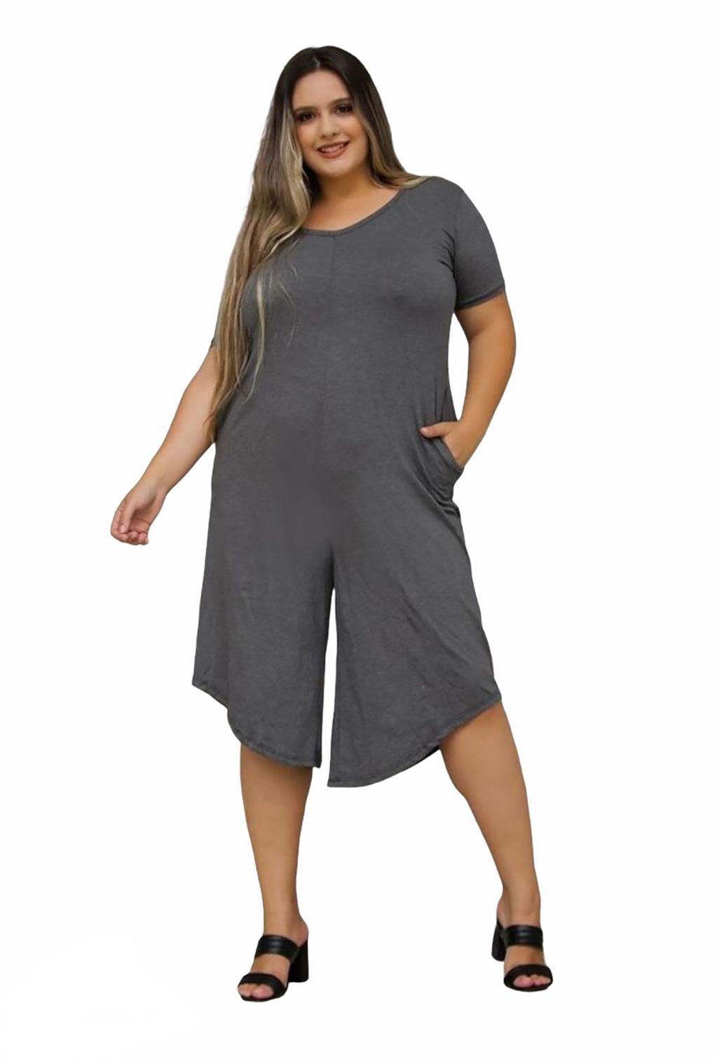 Macacão Assimétrico Feminino Plus Size Pantacourt Preço Atacado  - ModaStore | Moda Feminina