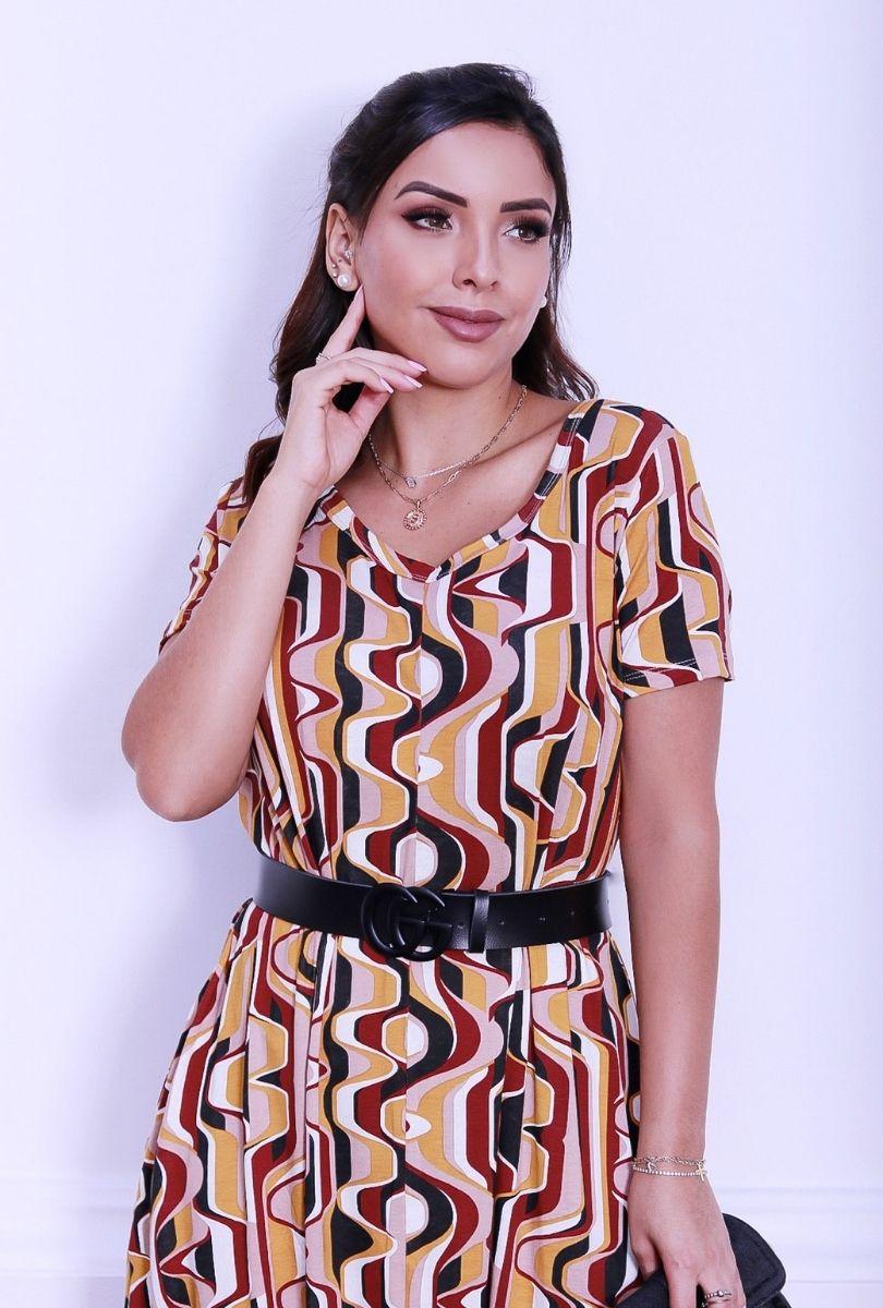 Macacão Feminino Saruel Estampado  - ModaStore