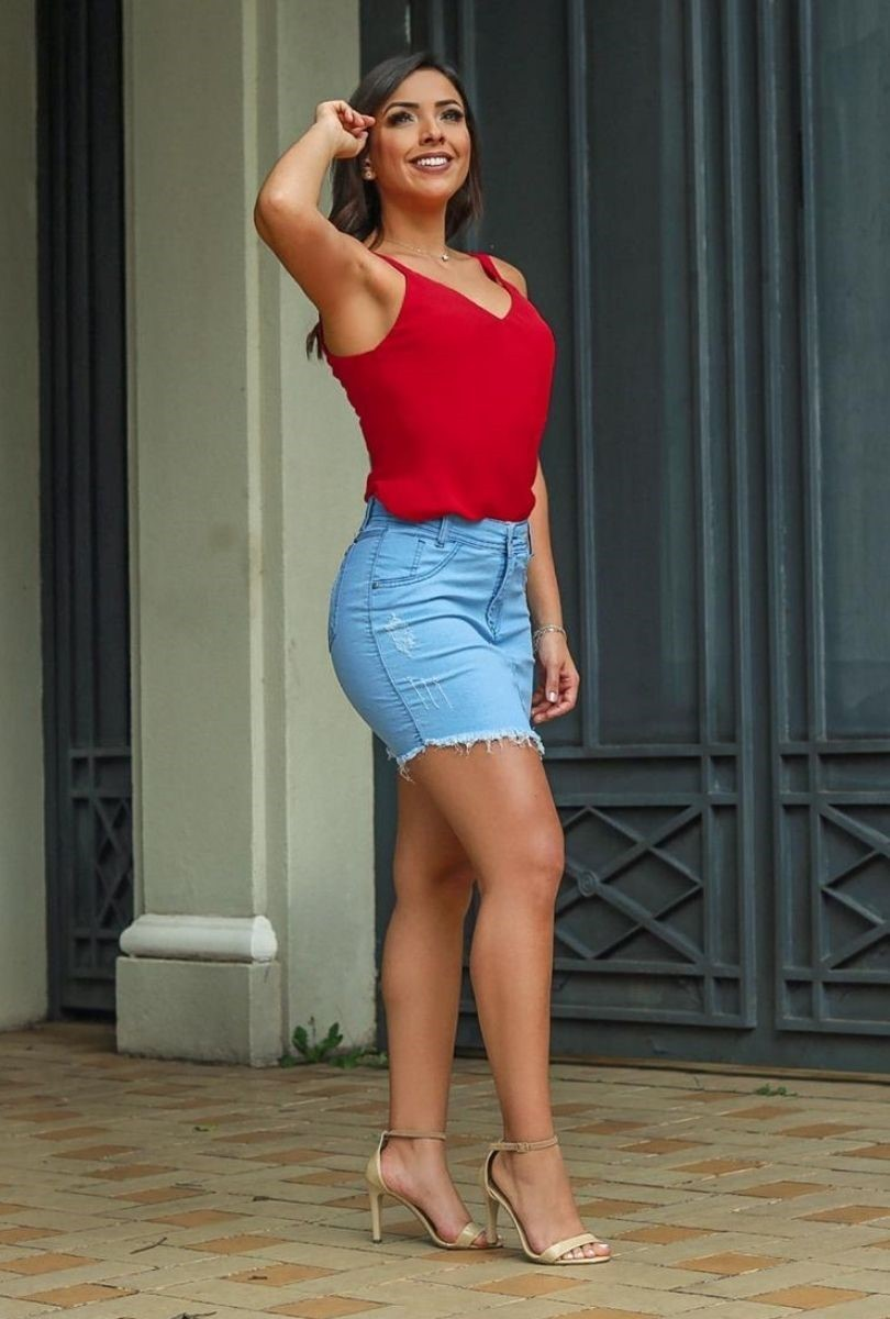 Mini Saia Jeans Feminina Lisa  - ModaStore | Moda Feminina