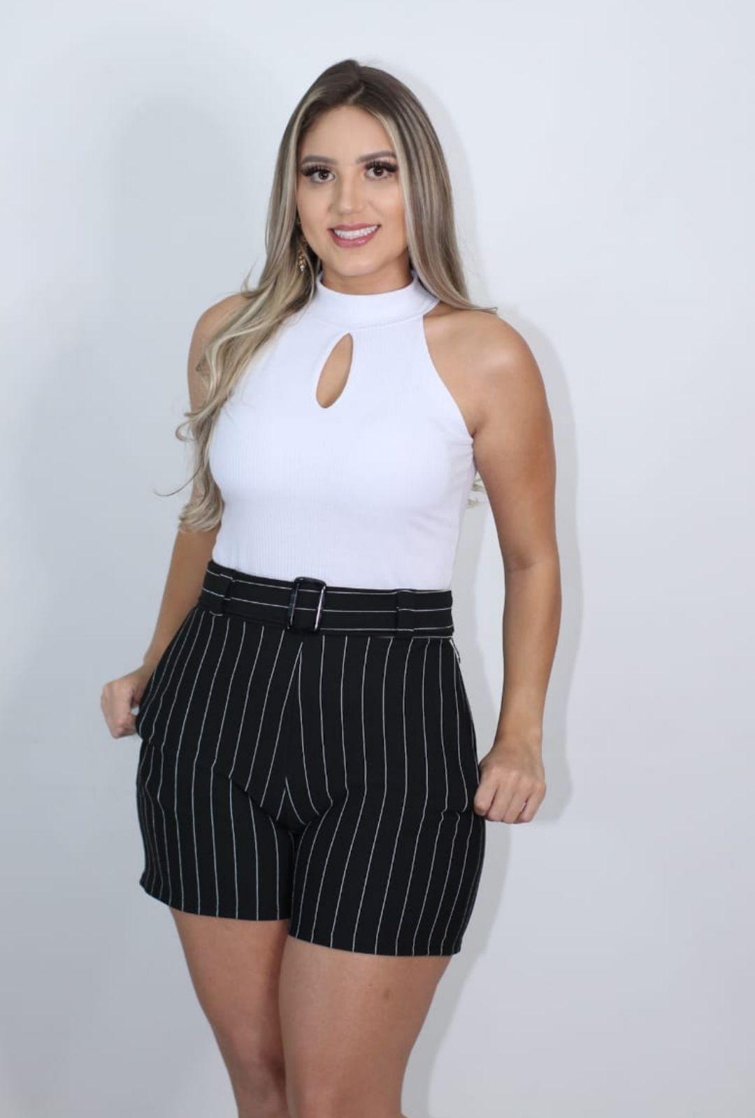 Regata Feminina Canelada Gota com Bojo  - ModaStore   Moda Feminina