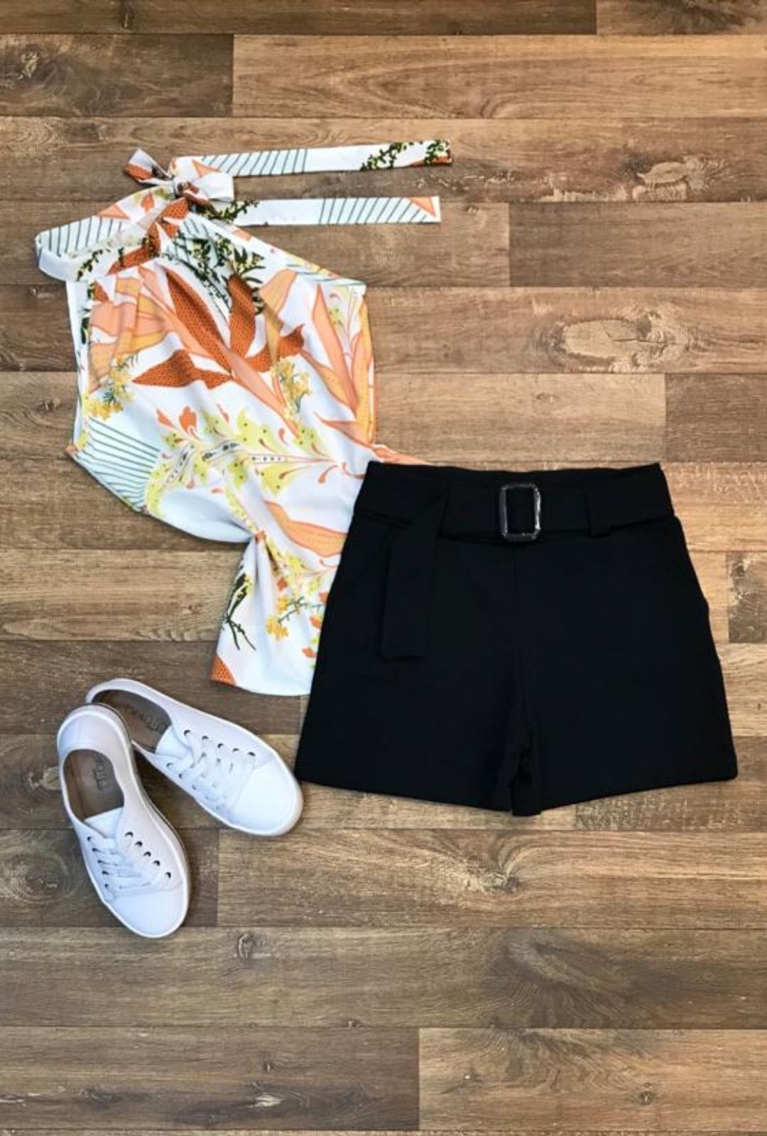 Blusa Camisa Regata Feminina Laço Pescoço Gola Alta Social Off White  - ModaStore | Moda Feminina
