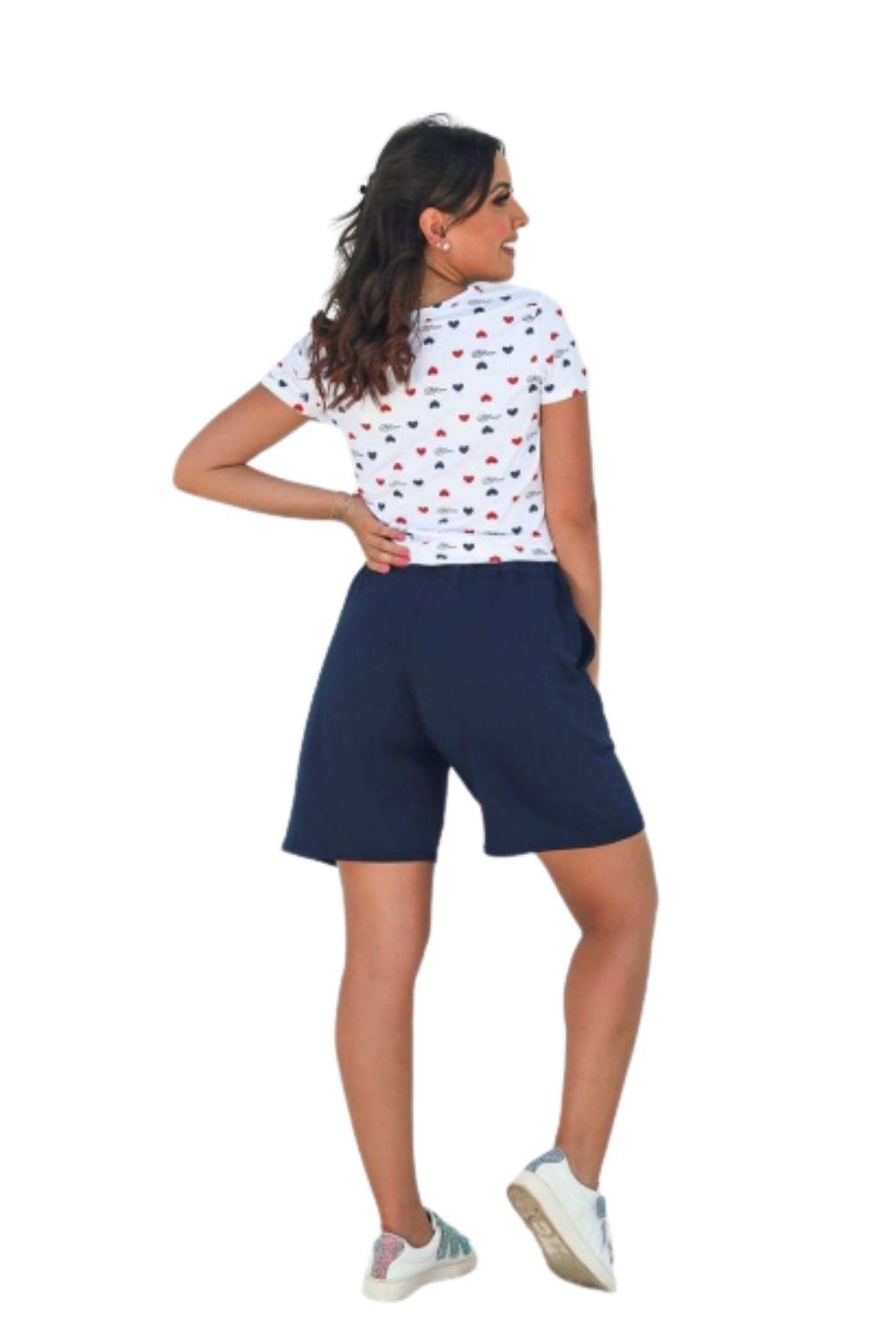 Shorts Básico Feminino Azul Marinho  - ModaStore   Moda Feminina
