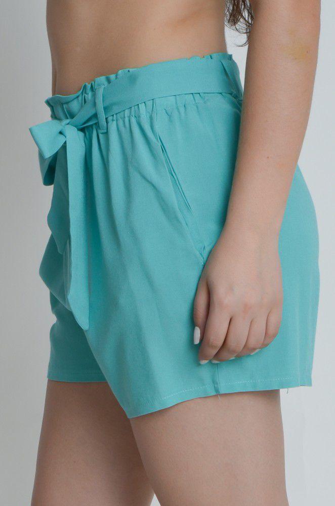 Shorts com Laço e Bolso  - ModaStore