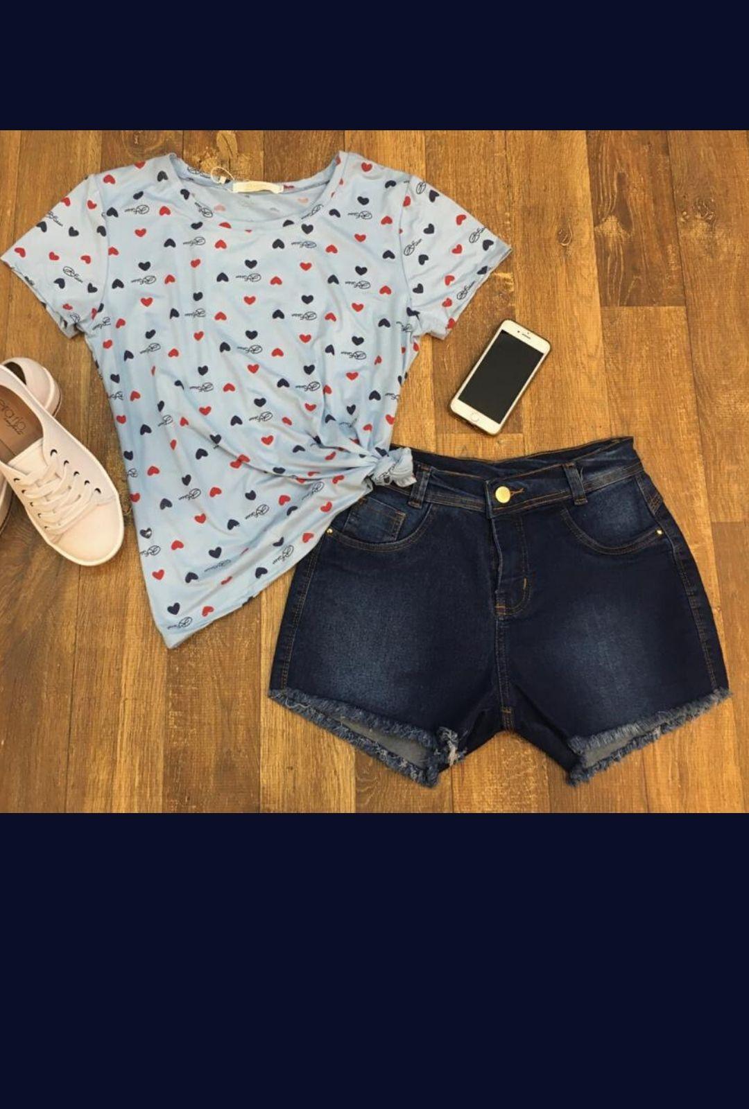Shorts Jeans Feminino Curto   - ModaStore