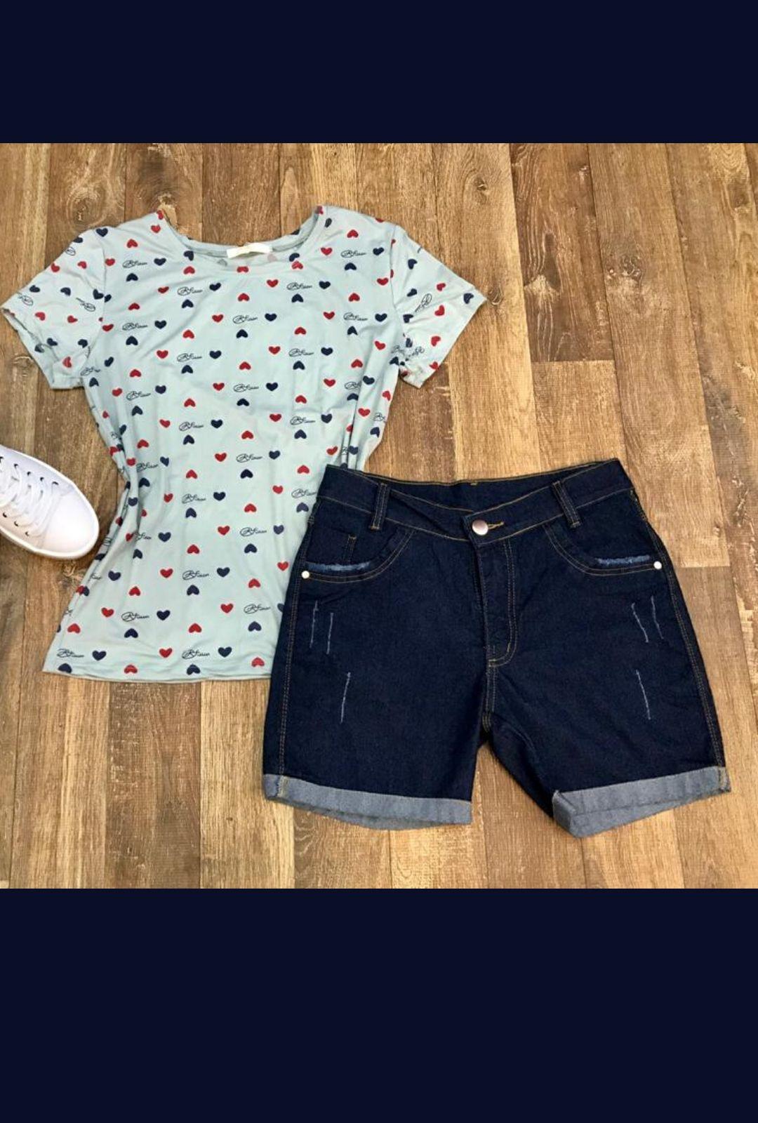Shorts Jeans Barra Dobrada  - ModaStore