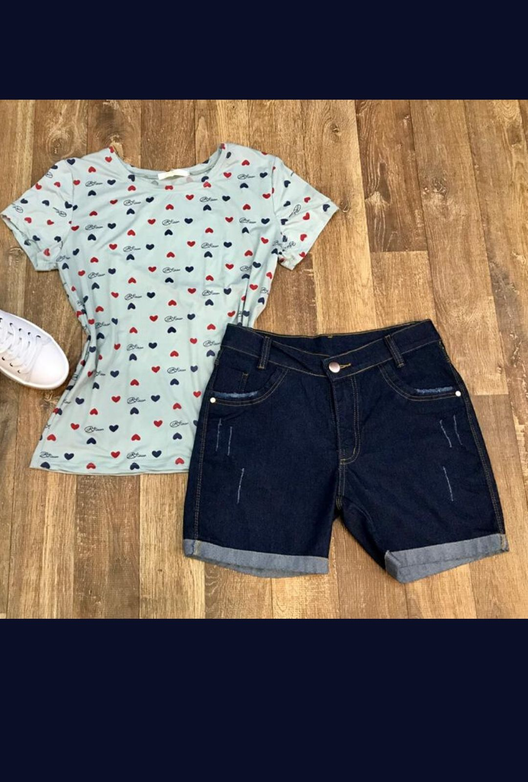 Shorts Jeans Barra Dobrada  - ModaStore   Moda Feminina