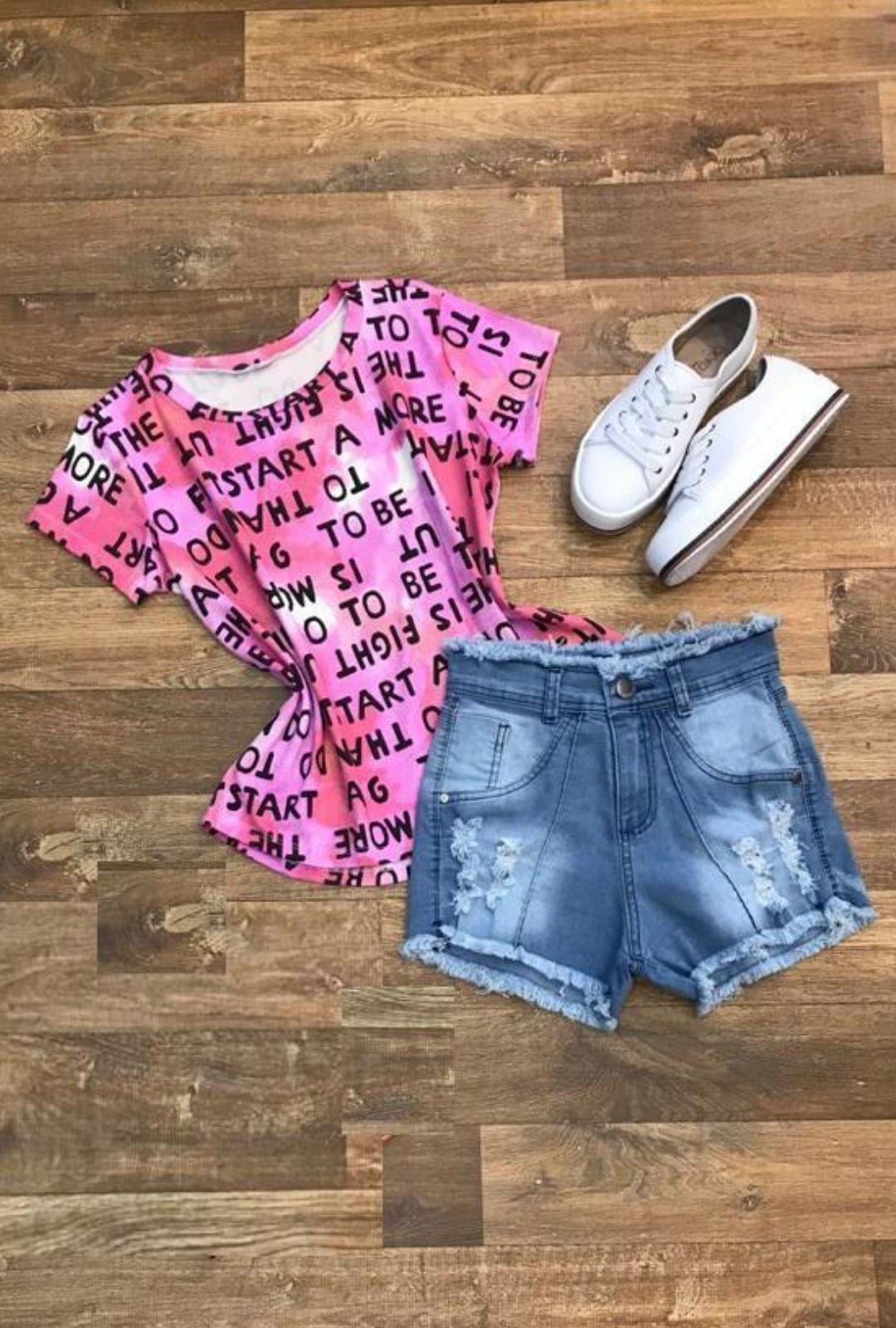 Shorts Jeans Destroyed com Vinco  - ModaStore