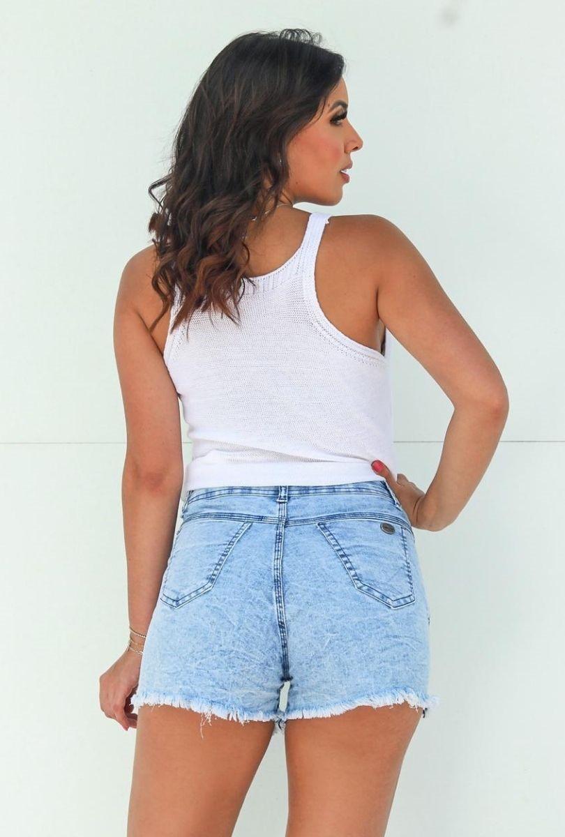 Shorts Jeans Feminino Marmorizado  - ModaStore   Moda Feminina