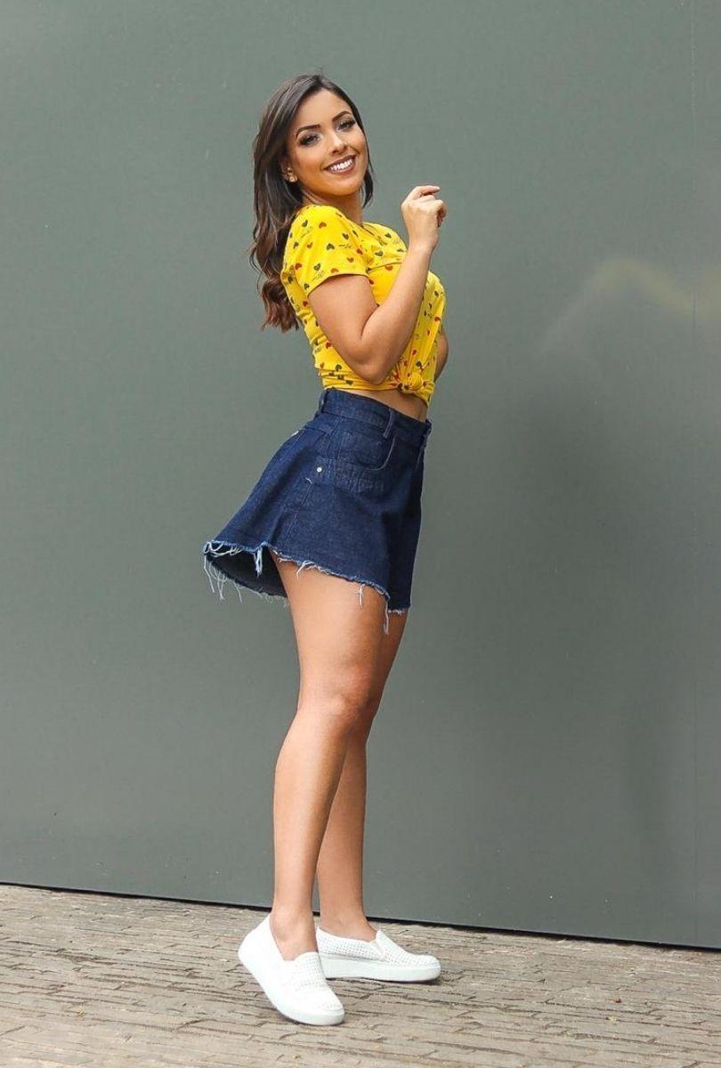 Shorts Jeans Feminino Gode Barra Desfiada  - ModaStore
