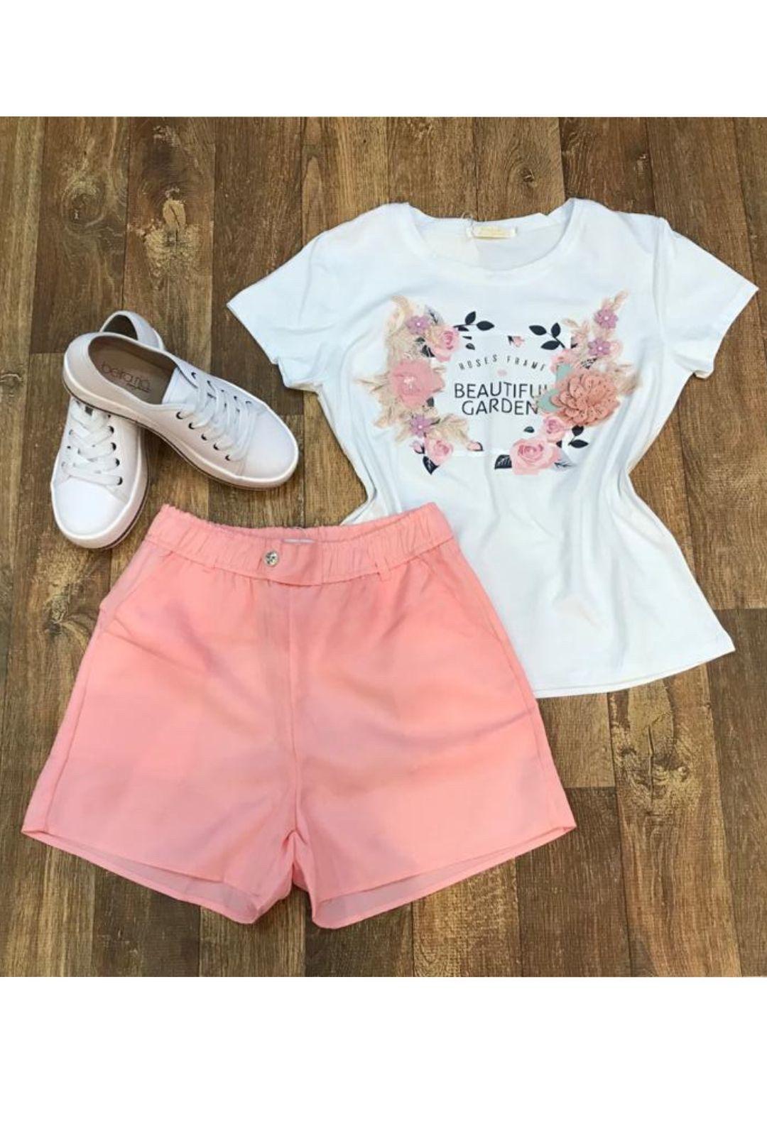 Shorts Feminino Rosa Menina  - ModaStore | Moda Feminina