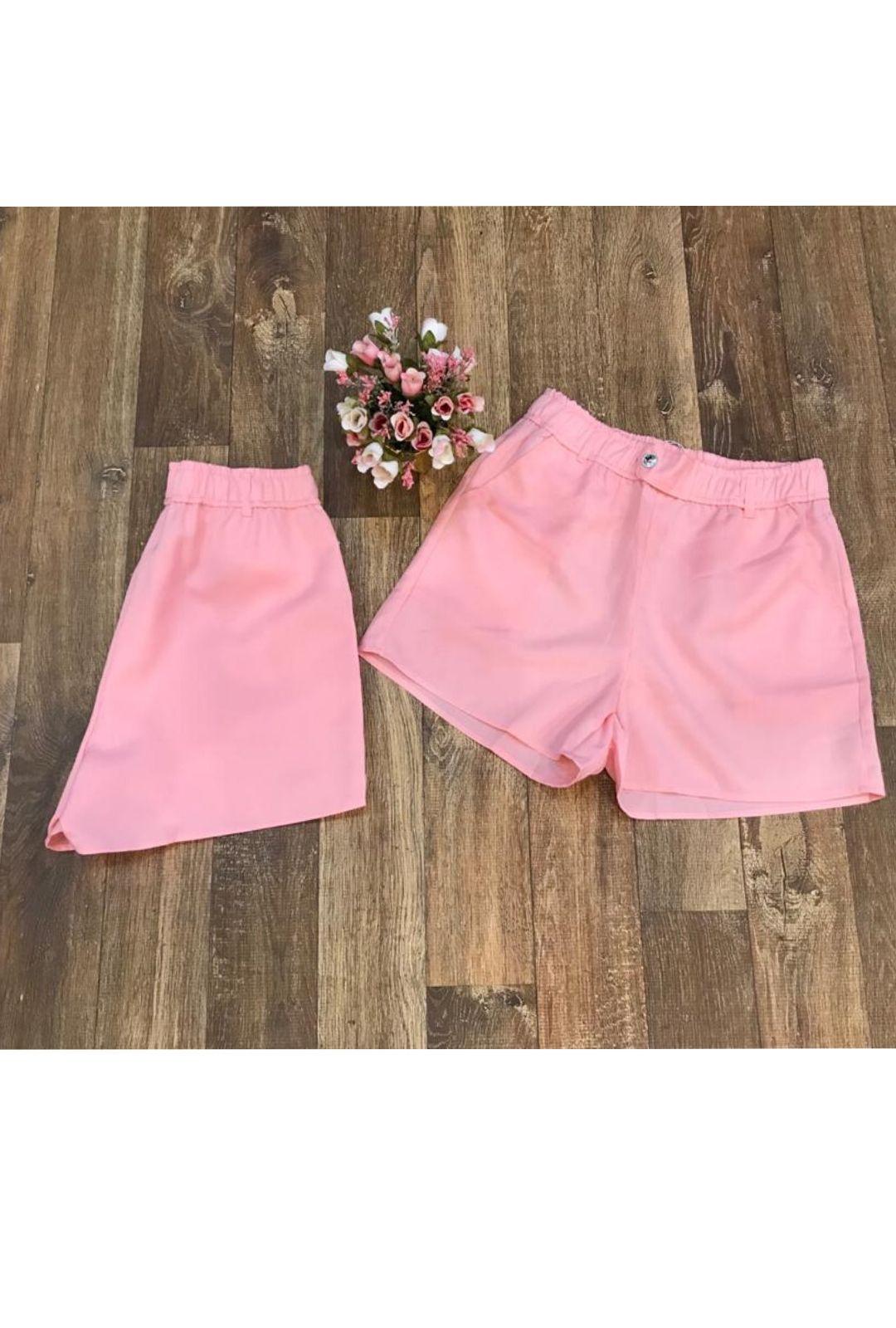 Shorts Feminino Rosa Menina  - ModaStore