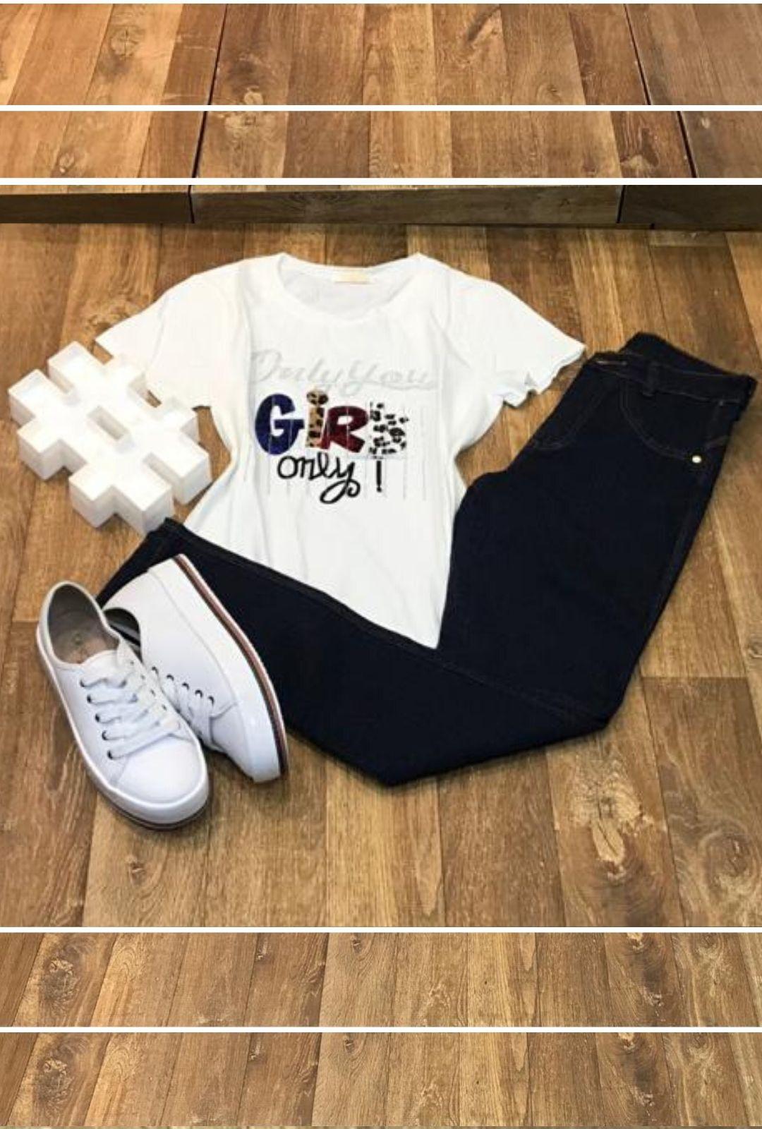 T-Shirt Aplique Girls  - ModaStore