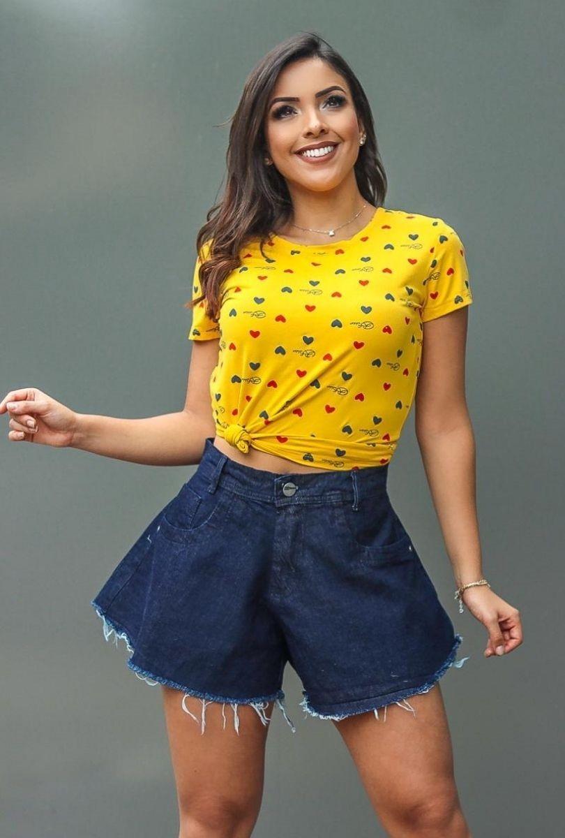 T-Shirt Coração  - ModaStore | Moda Feminina