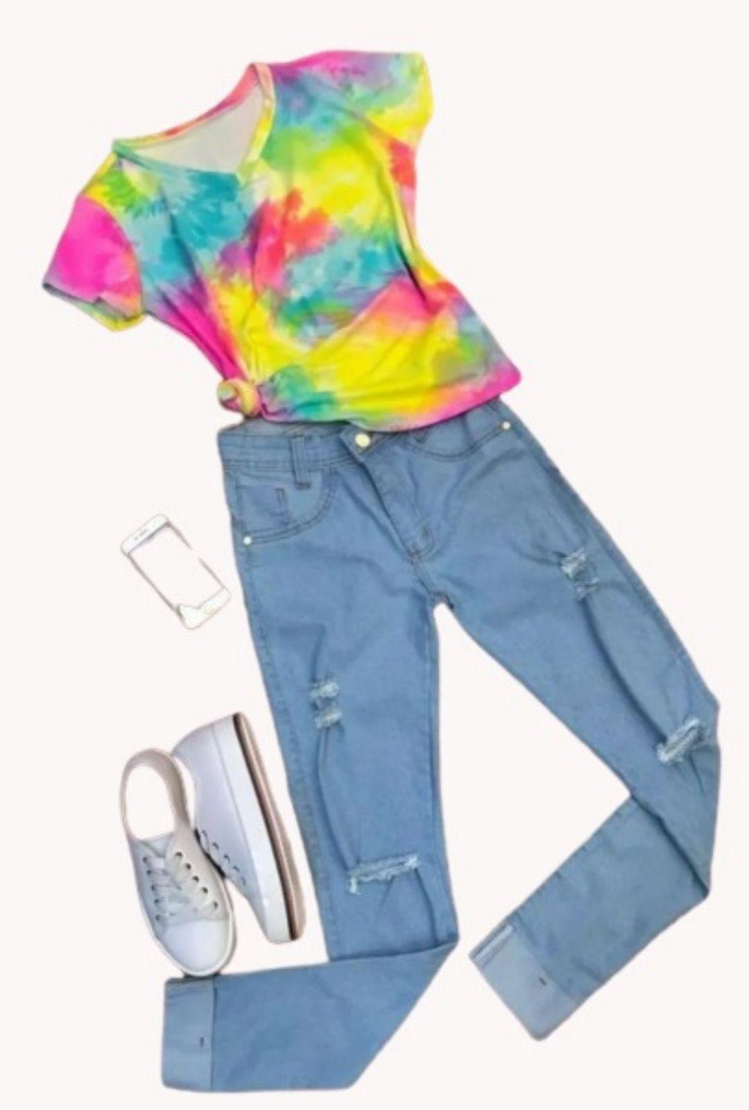 T-Shirt Tie Dye  - ModaStore | Moda Feminina