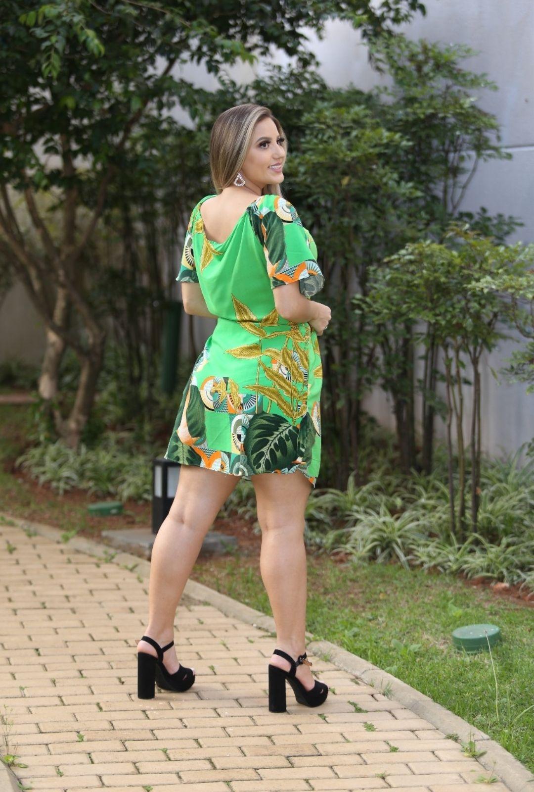 Vestido Ciganinha Estampado  - ModaStore