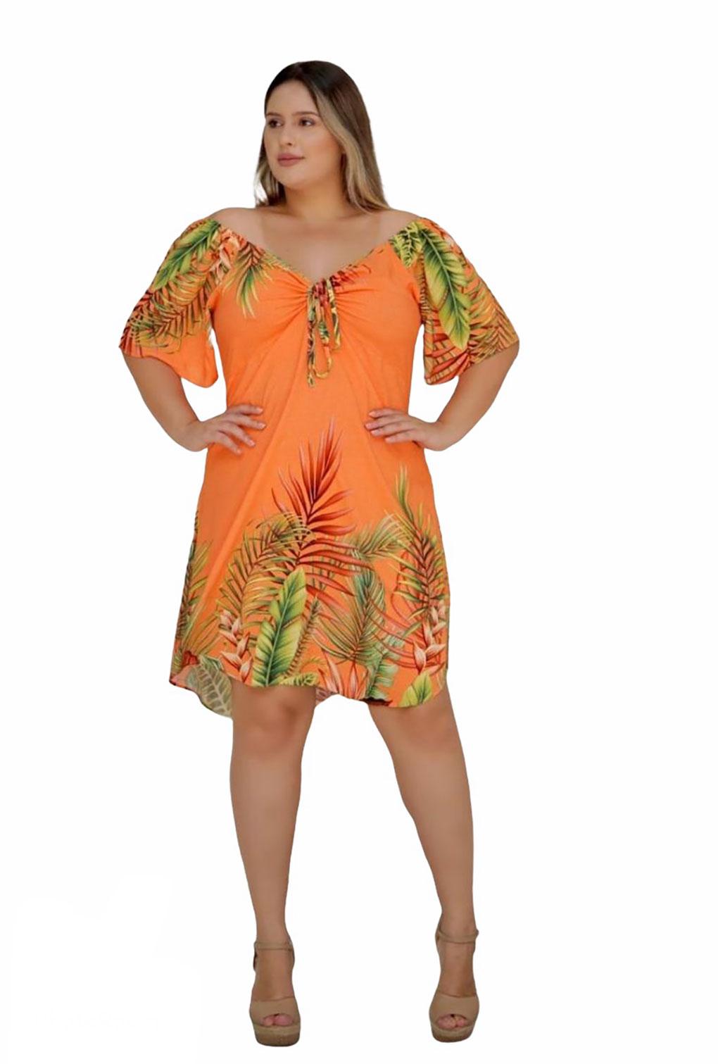 Vestido Ciganinha Estampado Plus Size  - ModaStore | Moda Feminina