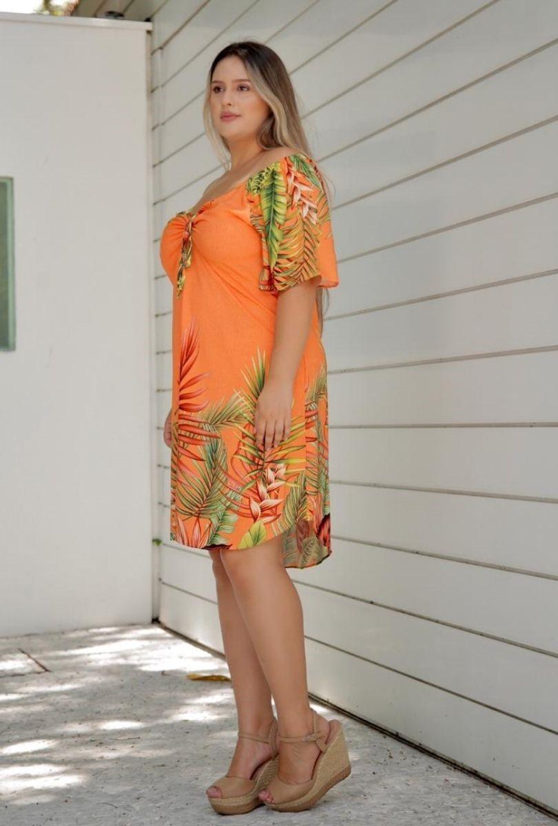 Vestido Ciganinha Estampado Plus Size  - ModaStore