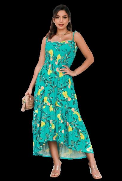 Vestido com Lastex Modelo Mullet De Alça Moda Feminina  - ModaStore | Moda Feminina