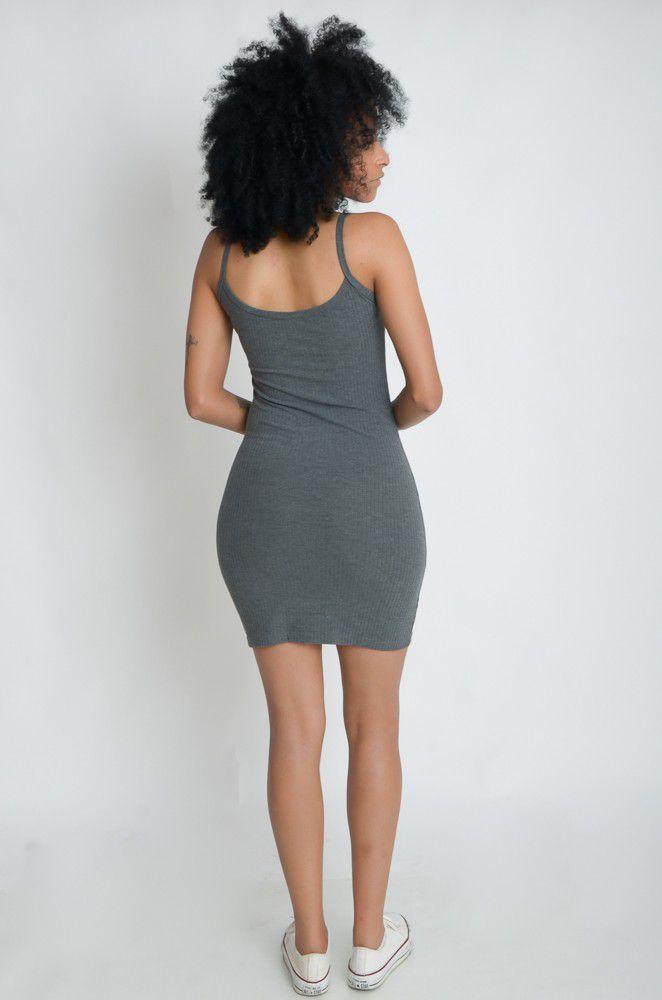 Vestido Curto Canelado Alcinha  - ModaStore | Moda Feminina