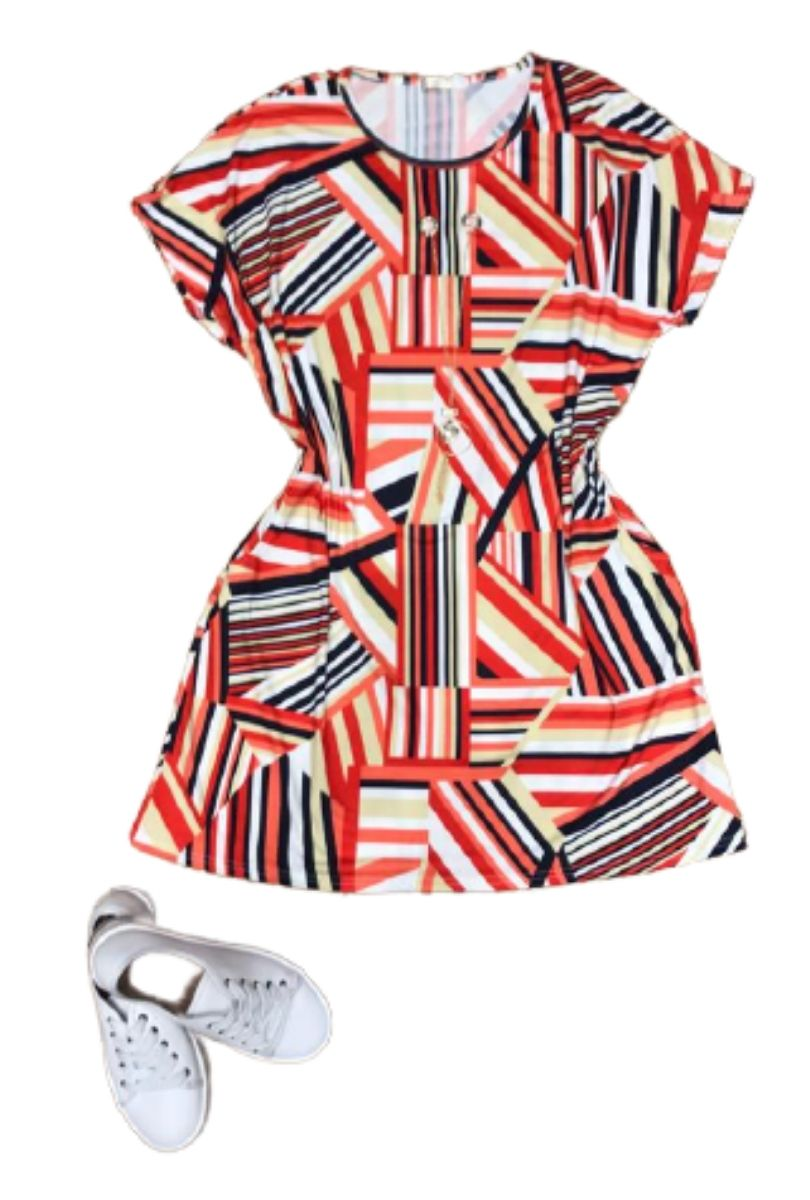 Vestido Curto Feminino com Colar Plus Size  - ModaStore
