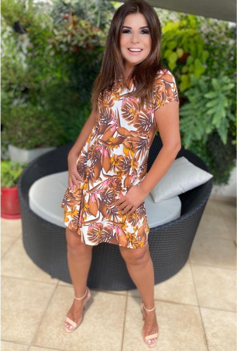 Vestido Feminino Curto Godê Estampado  - ModaStore | Moda Feminina