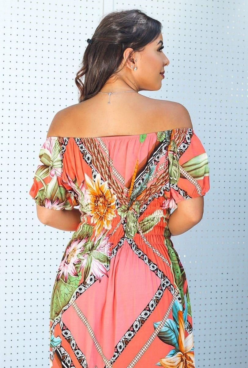 Vestido Feminino Longo Drapeado na Cintura  - ModaStore