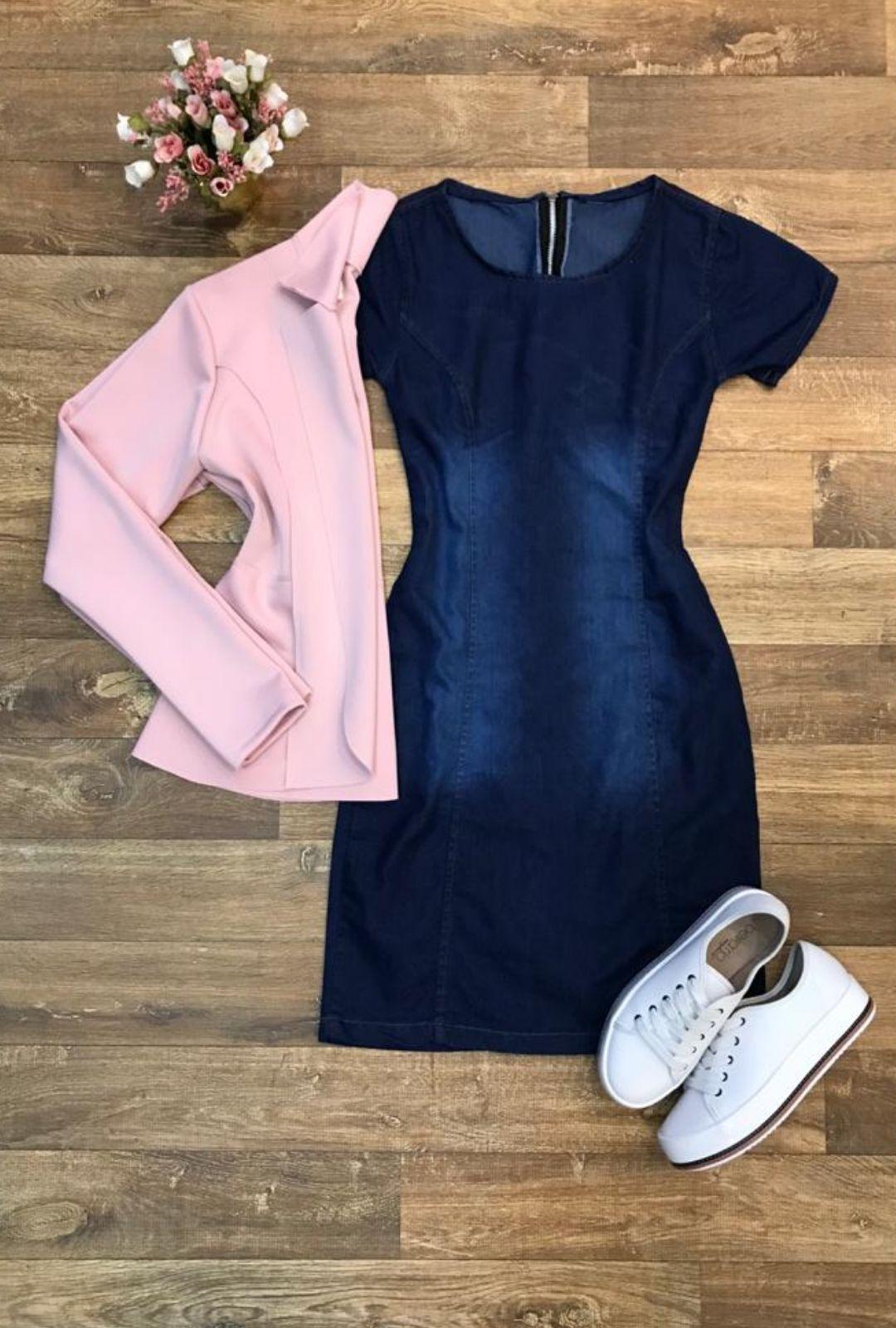 Vestido Jeans Tubinho  - ModaStore