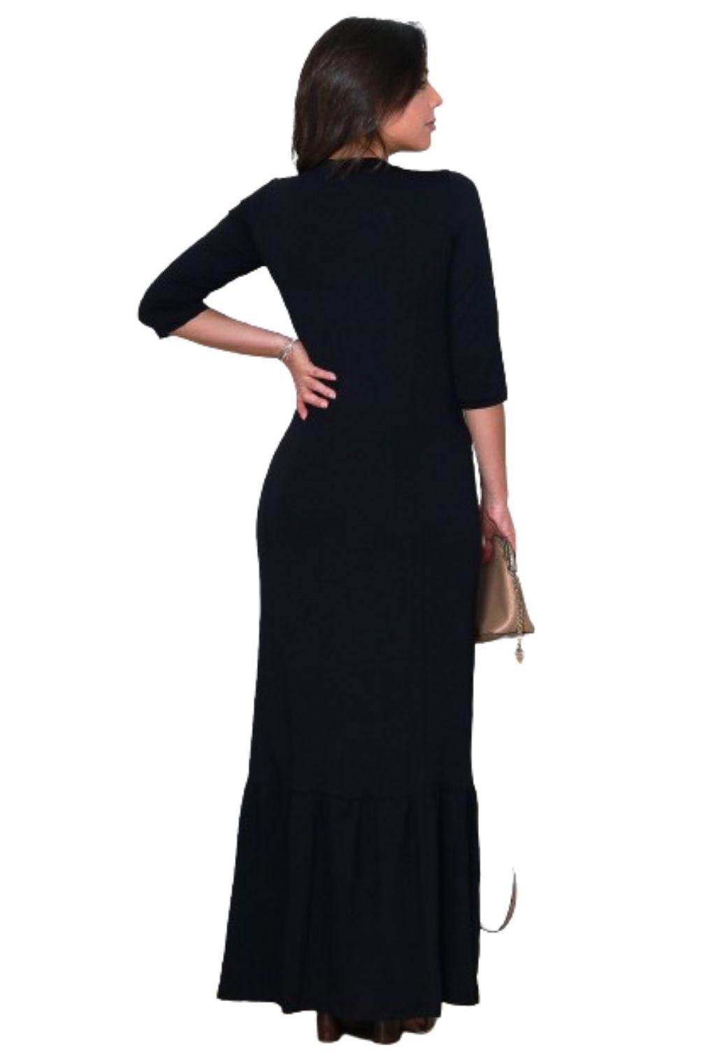 Vestido Longo Meia Estação Tendencia Feminino  - ModaStore | Moda Feminina