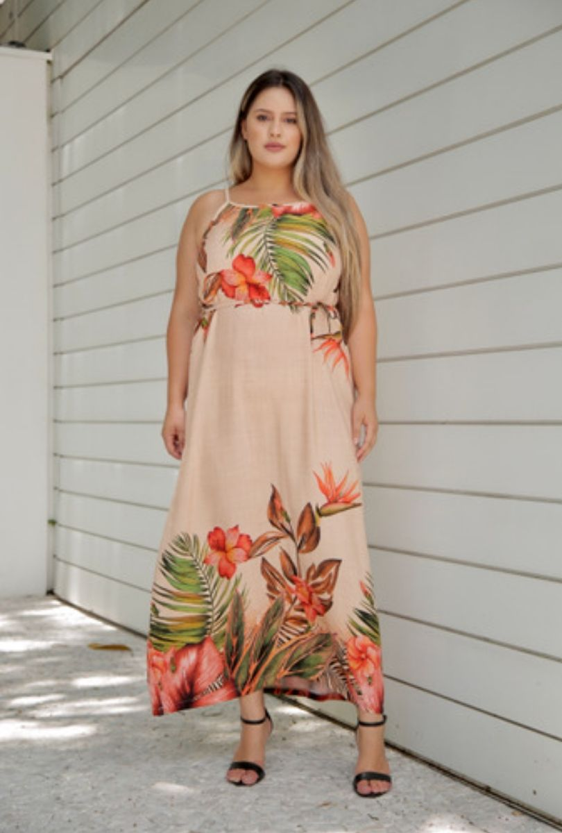 Vestido Longo Flora   - ModaStore | Moda Feminina