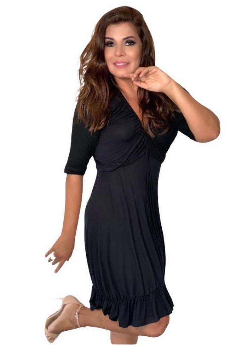 Vestido Feminino Curto Godê Babado  - ModaStore | Moda Feminina