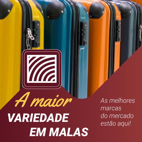 Aqui você encontra a maior variedade em malas!
