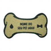Capacho Personalizado em Formato de Osso COM O NOME DO SEU PET