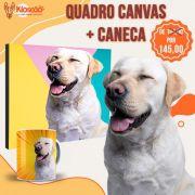 QUADRO CANVAS + CANECA PERSONALIZADA( COM A FOTO DO SEU PET)