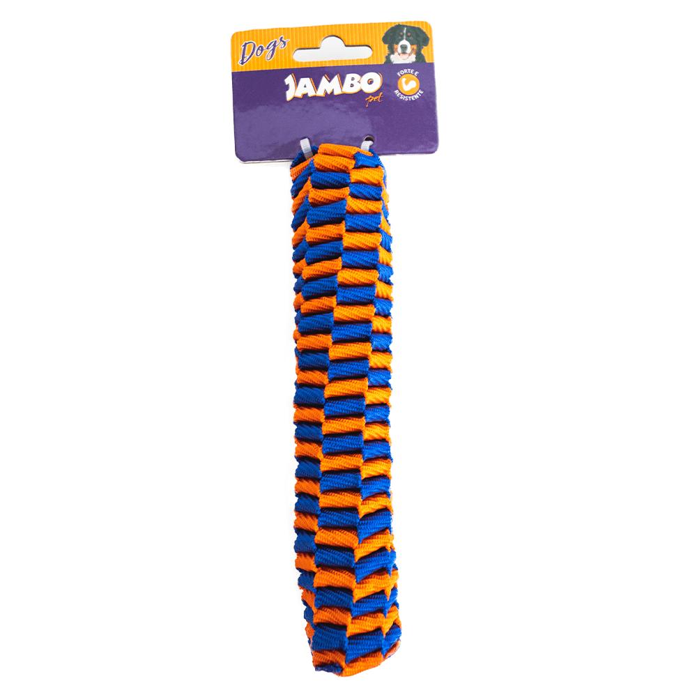 Corda Twist Resist Stick Azul e Laranja TAM P