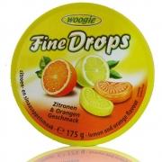 Bala de Limão e Laranja - Fine Drops Woogie 175g