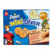 Bolacha Mini Diver  Recheio Chocolate 168g