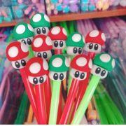 Caneta Cogumelo Mario Bros