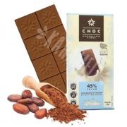 Chocolate de Origem ao Leite 45% Cacau - Zero Açúcar 80g
