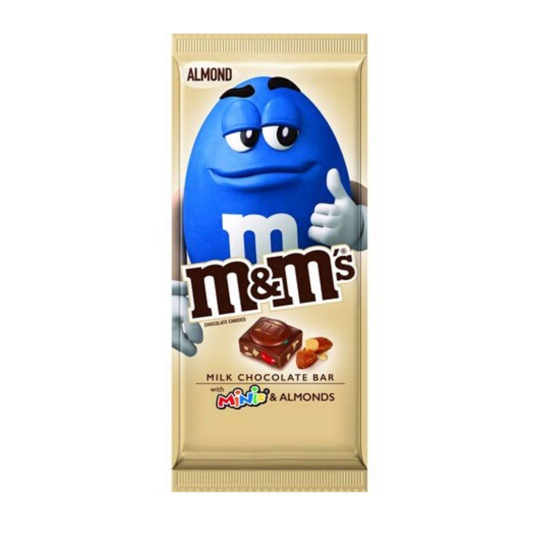 Barra de Chocolate ao Leite M&M'S com Mini's e Amêndoas