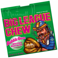 Big League Chew Bubble Gum Wild Pith Watermelon 60g