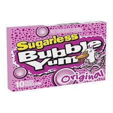 Bubble Yum Original Sugarless 50g - Menos Açucar