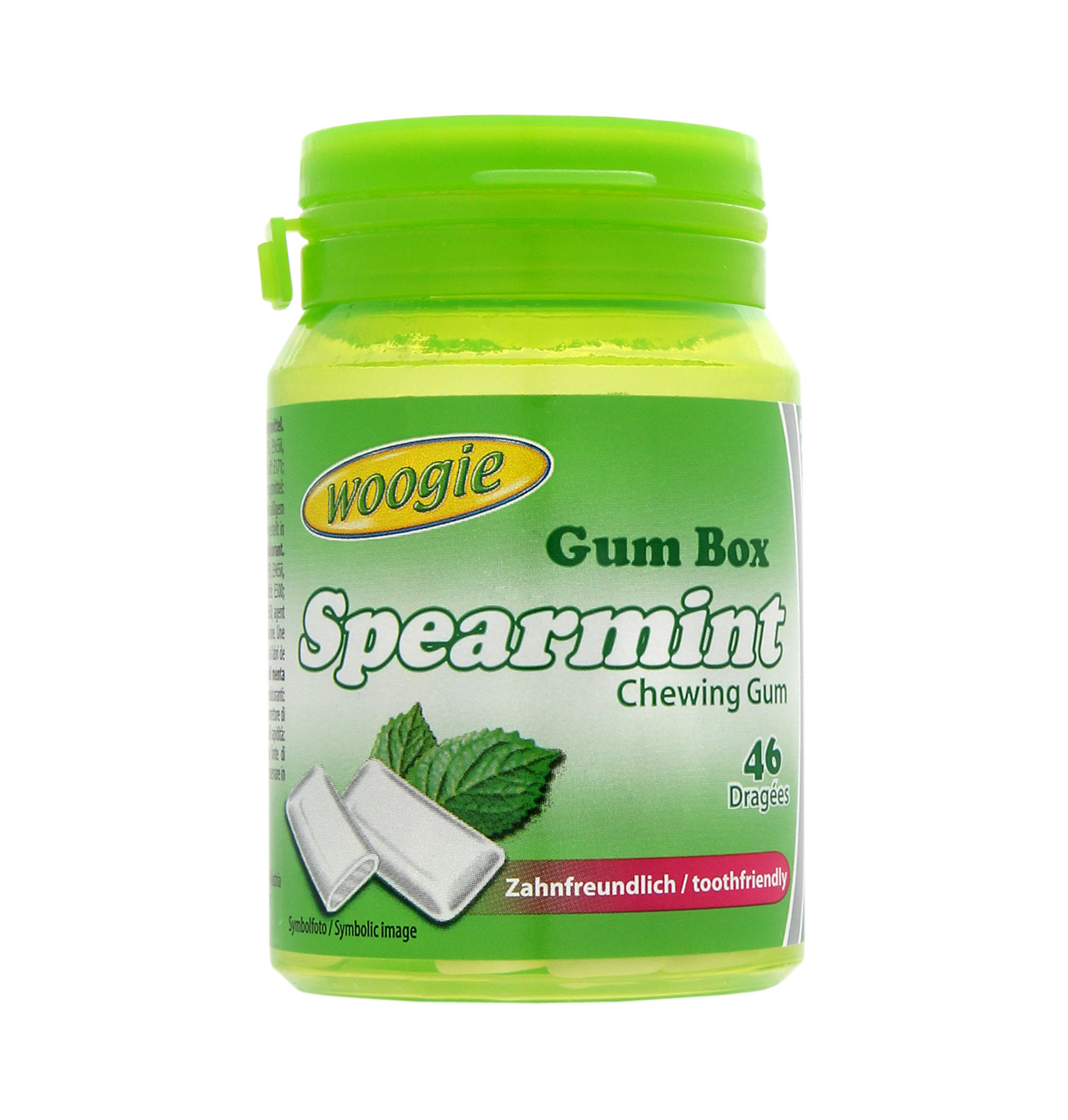 Chiclete Gum Box Spearmint Sem Açucar 64,4g Woogie