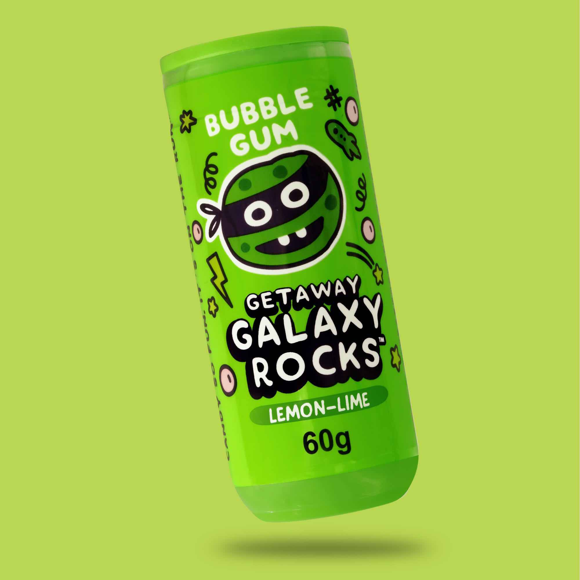 Chicletes Galaxy Rocks Bubble Gum Apple 60g