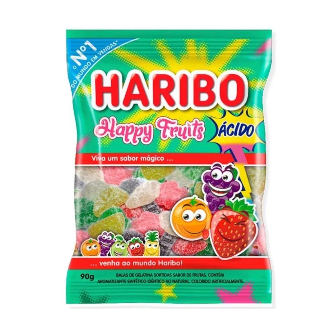 Haribo ácido - Happy Fruits Sour 90gr