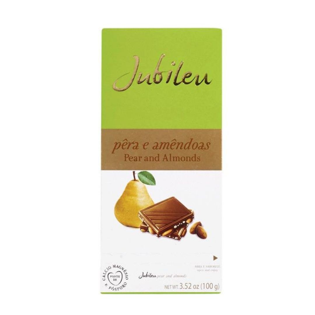 JUBILEU - Chocolate Pera e Amendoas 100gr