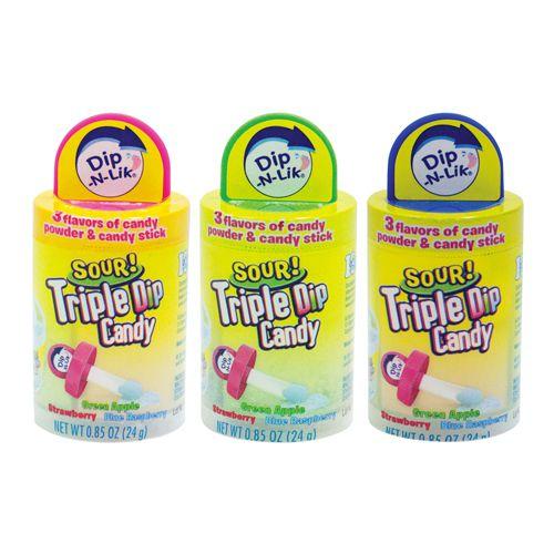 Koko Dip N Lik Triple Dip Candy Sour 24g