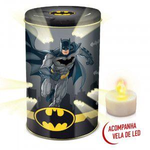 Lata de Biscoito Batman (com Vela de Led) 100g