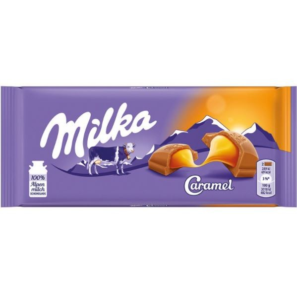 Milka Caramel Recheio Cremoso 100g